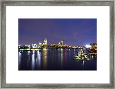 Boston Harbor Skyline Framed Print by Joann Vitali