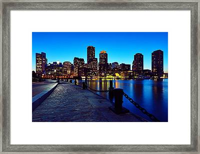 Boston Harbor Walk Framed Print by Rick Berk