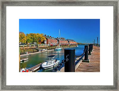 Boston Harborwalk Wharf Framed Print by Joann Vitali