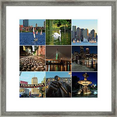 Boston Ma Nine Image Collage 1 Framed Print by Toby McGuire
