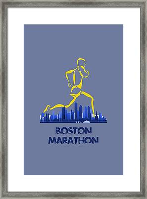 Boston Marathon5 Framed Print by Joe Hamilton