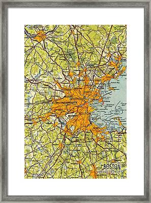 Boston Massachusetts 1948 Framed Print by Pablo Franchi