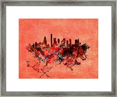 Boston, Massachusetts Cityscape 1a Framed Print by Brian Reaves