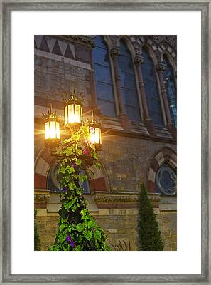 Boston Old South Church Street Lights Boston Ma Framed Print by Toby McGuire
