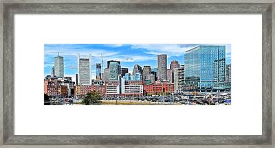 Boston Panoramic City View Framed Print by Frozen in Time Fine Art Photography