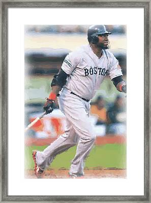 Boston Red Sox David Ortiz Framed Print by Joe Hamilton