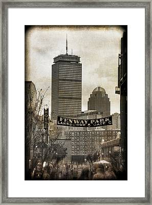 Boston Red Sox - Fenway Park - Lansdowne St. Framed Print by Joann Vitali