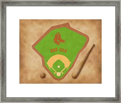 Boston Red Sox Field Framed Print by Carl Scallop