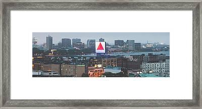 Boston Skyline Aerial Panorama Photo Framed Print by Paul Velgos