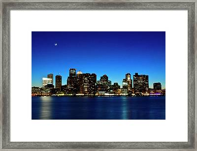 Boston Skyline Framed Print by By Eric Lorentzen-Newberg