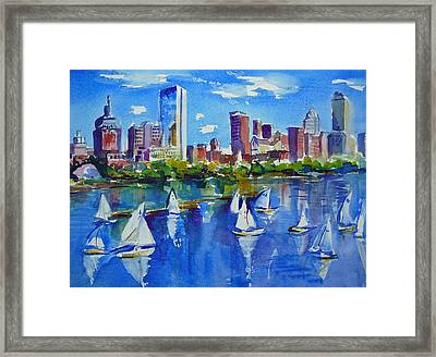 Boston Skyline Framed Print by Diane Bell
