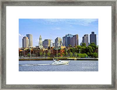 Boston Skyline Framed Print by Elena Elisseeva