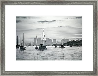 Boston Skyline  Framed Print by Matthew Martelli