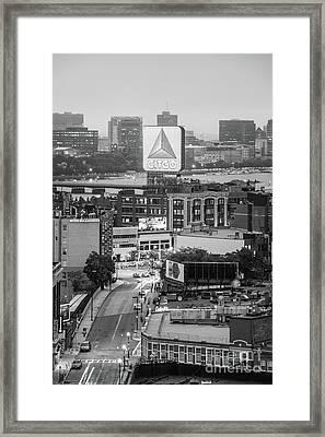 Boston Skyline Photo With The Citgo Sign Framed Print by Paul Velgos