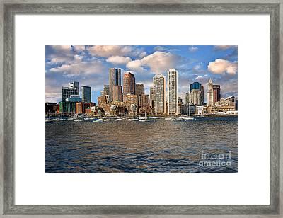 Boston Skyline  Framed Print by Tamyra Ayles