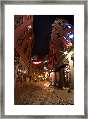 Boston Street Framed Print by Joshua Ball