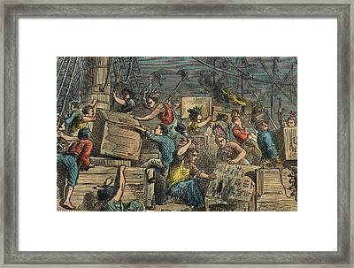 Boston Tea Party Framed Print by American School