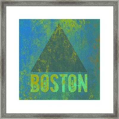 Boston Triangle V2 Framed Print by Brandi Fitzgerald