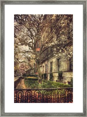 Boston Vintage Row Houses - Back Bay Framed Print by Joann Vitali