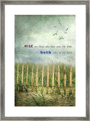 Both Sides Of The Fence Framed Print by Joana Kruse