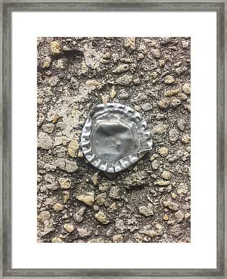 Bottle Cap Framed Print by Kendall Tabor