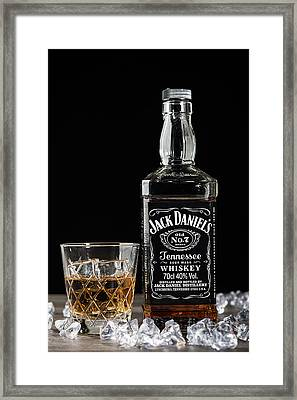 Bottle Of Jack Daniel's Framed Print by Amanda Elwell