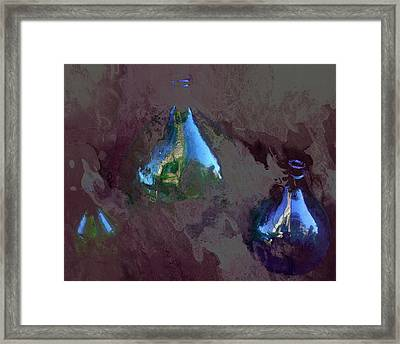 Bottle Reflections Framed Print by Dorothy Berry-Lound
