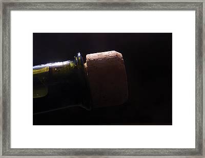 bottle top and Cork Framed Print by Steve Somerville
