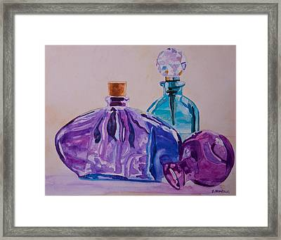 Bottles And Stoppers Framed Print by Jenny Armitage