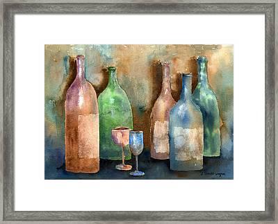 Bottles Framed Print by Arline Wagner