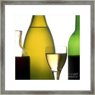 Bottles Of Variety Vine Framed Print by Bernard Jaubert