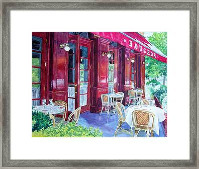 Bouchon Restaurant Outside Dining Framed Print by Gail Chandler