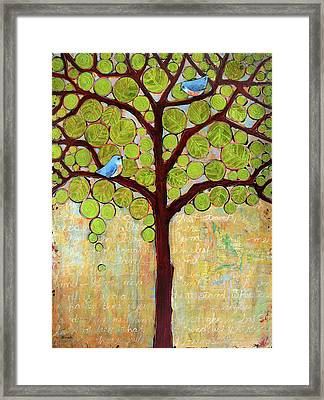 Boughs In Leaf Tree Framed Print by Blenda Studio