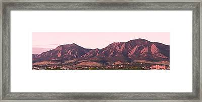 Boulder Colorado Flatirons 1st Light Panorama Framed Print by James BO  Insogna