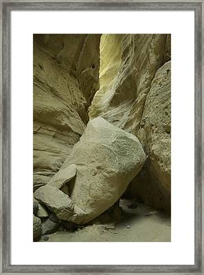 Boulder In The Pathway Framed Print by Jeff Swan