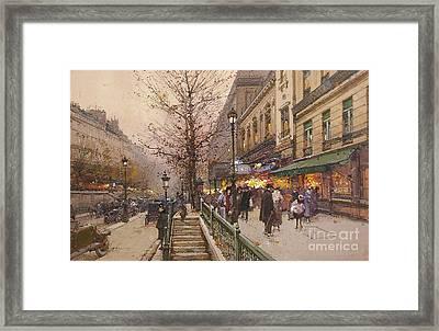 Boulevard Saint Martin Framed Print by MotionAge Designs