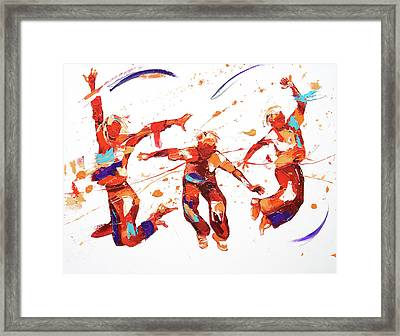 Bounce Framed Print by Penny Warden