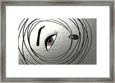 Bounded And The Blinded Framed Print by M Jf
