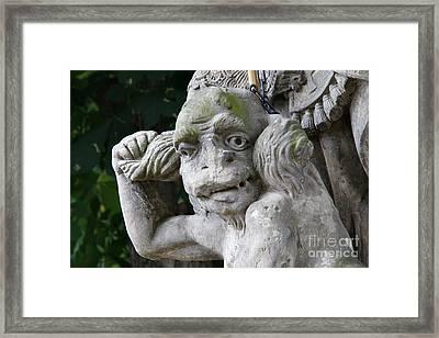 Bounded Devil - Detail Of The Head Framed Print by Michal Boubin