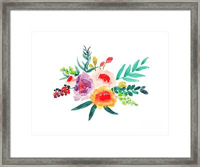 Bouquet Chic Framed Print by Rasirote Buakeeree