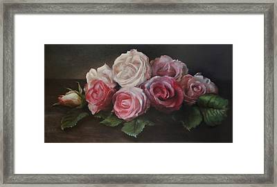 Bouquet De Table Framed Print by Kira Weber