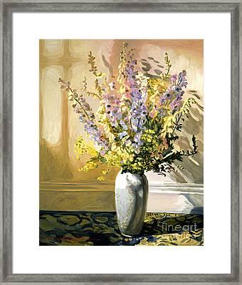 Bouquet Impressions Framed Print by David Lloyd Glover
