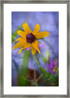 Bouquet Of One - Painting By Fleblanc Framed Print by F Leblanc