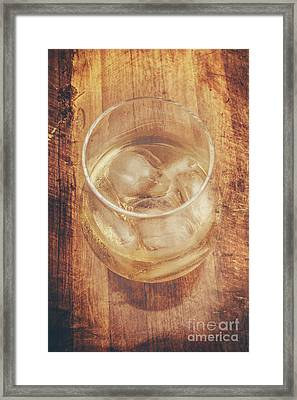 Bourbon And Ice Framed Print by Jorgo Photography - Wall Art Gallery