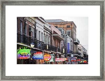 Bourbon Street At Dusk Framed Print by Taylor S. Kennedy