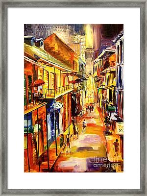 Bourbon Street Glitter Framed Print by Diane Millsap