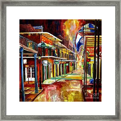 Bourbon Street Lights Framed Print by Diane Millsap