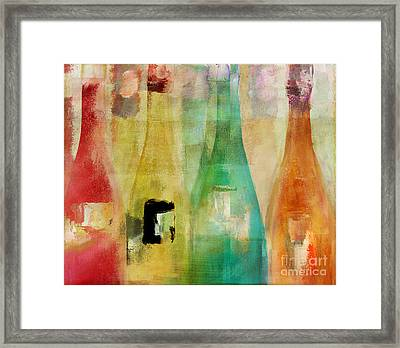 Bouteilles Framed Print by Mindy Sommers