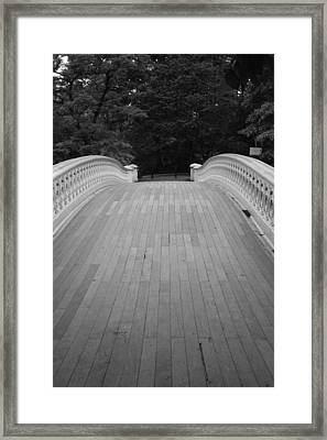 Bow Bridge And Trees Framed Print by Christopher Kirby