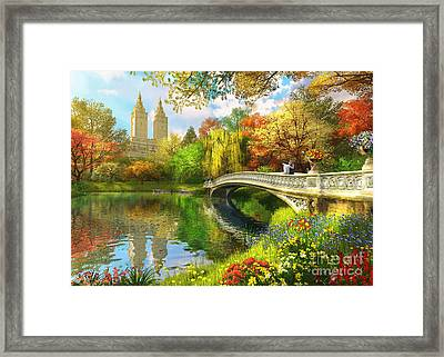 Bow Bridge Framed Print by Dominic Davison